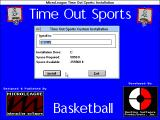 Time Out Sports: Basketball Windows 3.x Title is seen in installation