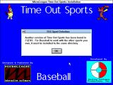 Time Out Sports: Baseball Windows 3.x Title is seen in the installation