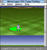 Time Out Sports: Baseball Windows 3.x Catching the flying ball