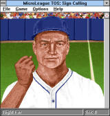 Time Out Sports: Baseball Windows 3.x Memorizing the couch's movements to repeat them in proper sequence