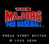 The Majors: Pro Baseball Game Gear Title screen