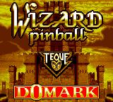 Wizard Pinball Game Gear Title screen
