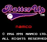 Batter Up Game Gear Title screen