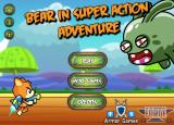 Bear in Super Action Adventure Browser Title screen