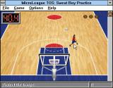 Time Out Sports: Basketball Windows 3.x Boy is running to the sweat