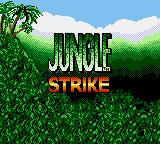 Jungle Strike Game Gear Title screen.