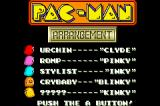 Pac-Man Collection Game Boy Advance Pac-Man Arrangement Title Screen