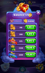 Bejeweled: Stars Android In-app purchases for coins