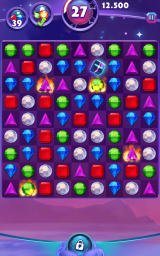 Bejeweled: Stars Android A board with many powerful gems already