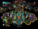 Wrath Unleashed PlayStation 2 Strategy world map, (Light Order) Water making move, step 2 (character selected, range of movement shown)