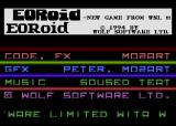 Eoroid Atari 8-bit Title screen