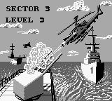 Choplifter II: Rescue Survive Game Boy Sector 3 introduction.