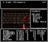 Wizardry V: Heart of the Maelstrom SNES Combat options