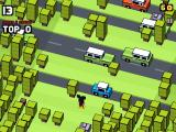 Disney Crossy Road iPad A game with Mickey in progress