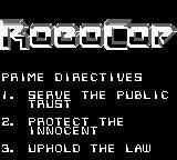 RoboCop Game Boy Prime Directives.