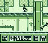 RoboCop Game Boy Congratulations. Now raid the gang hideout.