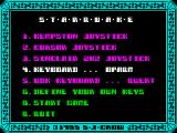 Starquake ZX Spectrum Game options