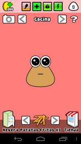 Baby Pou is hungry, you need to feed him.