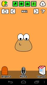 Pou Android The hall allows you to use the microphone to speak and pou will speak back to you.