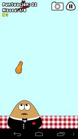 Pou Android Another good mini-game: Food drop, you must catch the food.