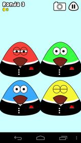 Pou Android Pou sounds: You must memorize the correct order of the colored Pous.