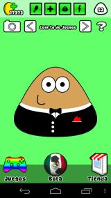 Pou Android The games room, it has a ball to launch to Pou and make him happy.
