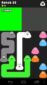 Pou Android The connect mini-game: you must connect Pous of the same color, buy don't let blank spaces.