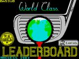 World Class Leader Board ZX Spectrum Loading screen