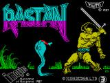 Rastan ZX Spectrum Loading screen