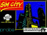 SimCity ZX Spectrum Title screen