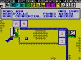 SimCity ZX Spectrum Beginning to build a city