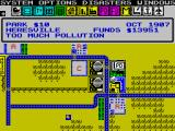 SimCity ZX Spectrum The city begins to be built