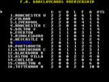 ZX Football Manager 2005 ZX Spectrum League table
