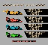 Michael Andretti's World GP NES Machine select (JP). Fake stuff.