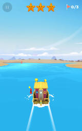 Sea Hero Quest Android In the Golden Shores, the second environment, with a customized ship.