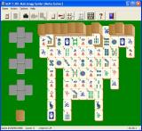 MahJongg Patience Windows A game of Mahjongg Spider showing the Chinese tileset<br>Tilesets can be changed during the game