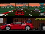 Lotus Esprit Turbo Challenge Amiga Italy, at the start of the race, trying to break forward