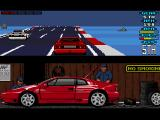 Lotus Esprit Turbo Challenge Amiga It is risky to drive at full speed when you don't see what comes next