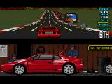 Lotus Esprit Turbo Challenge Amiga Hey, why didn't they clear the road of those rock debris?