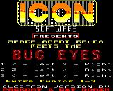 Bug Eyes Electron Title screen