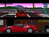 Lotus Esprit Turbo Challenge Amiga England, trying to squeeze at the start will often result in a collision