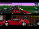 Lotus Esprit Turbo Challenge Amiga Yikes, out of fuel and I was driving the final lap!