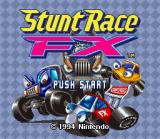 Stunt Race FX SNES Title screen