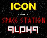 Space Station Alpha BBC Micro Title screen