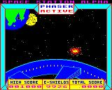 Space Station Alpha BBC Micro Enemy getting shot down