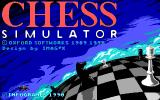 Chess Simulator DOS Title Screen (EGA).