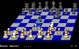 Chess Simulator DOS 3D Board (EGA).