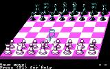 Chess Simulator DOS 3D Board (CGA).