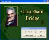 Omar Sharif Bridge Windows The game loads and displays this screen. From here the player can select either the tutorial or the bridge playing game