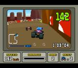 Stunt Race FX SNES Driving through a valley